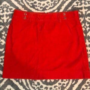 Loft Orange Cord Mini Skirt